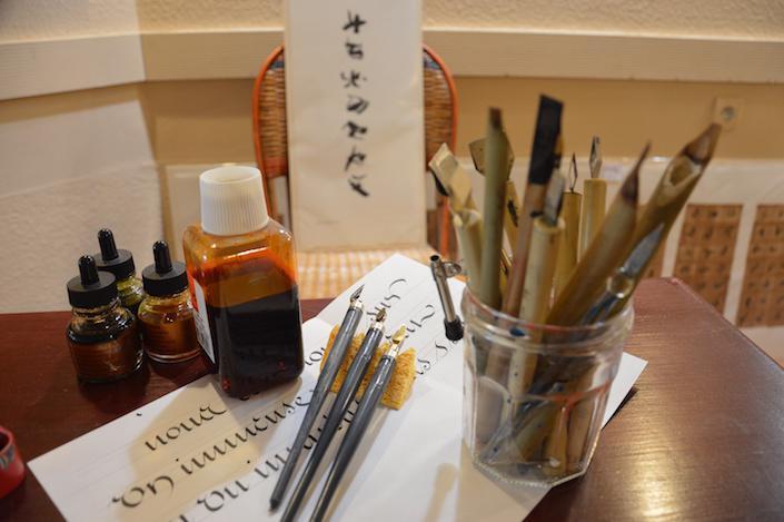 atelier matériel de calligraphie