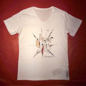 Tee-shirt col V BONHEUR