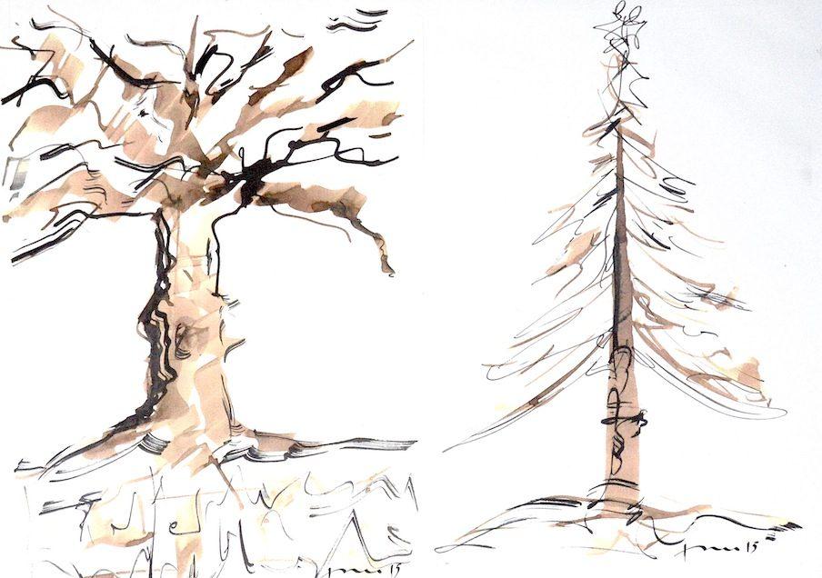 arbre calligraphie