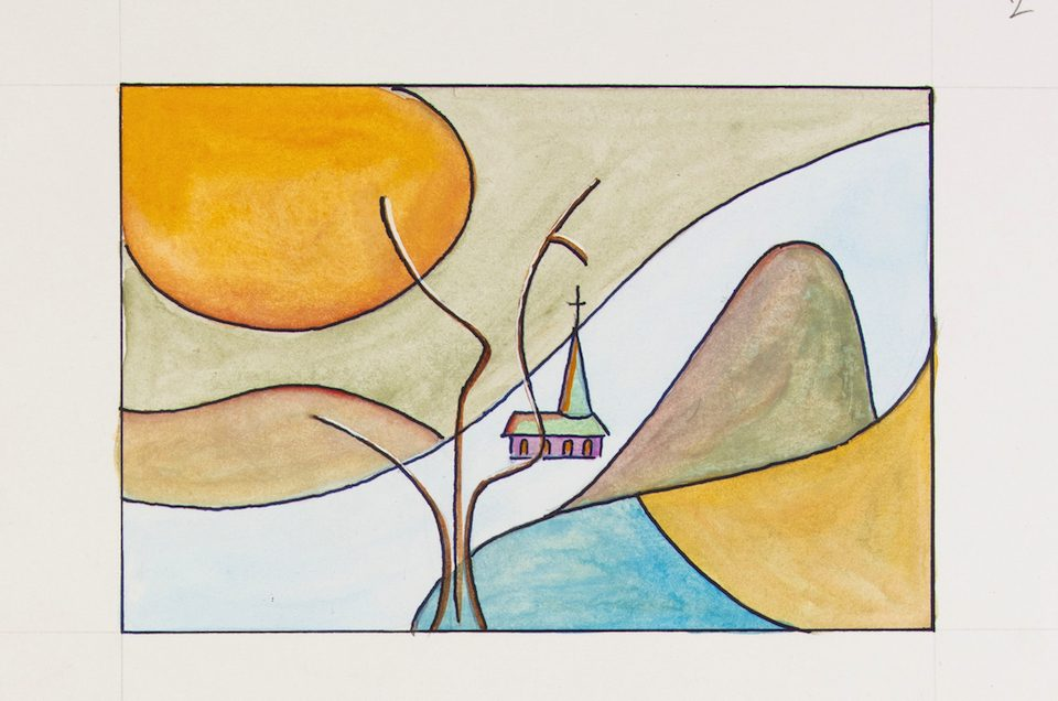 arbre Paysage calligraphie