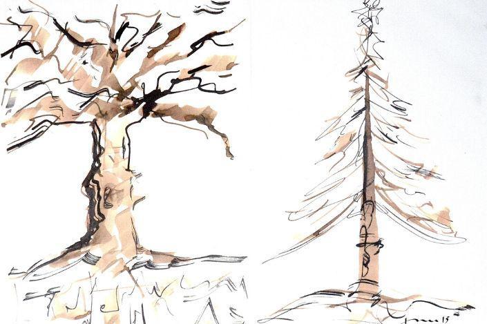 Ecriture de l'arbre calligraphie