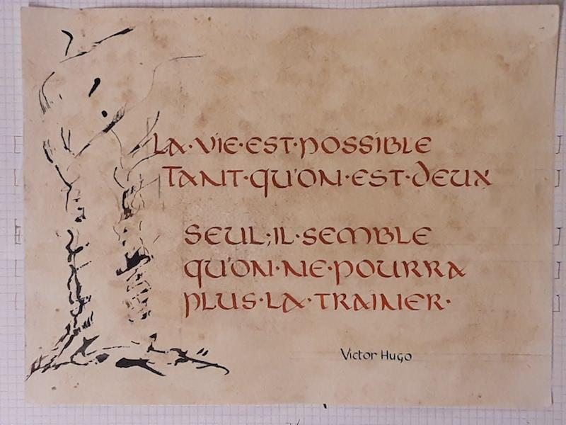 stage calligraphie février